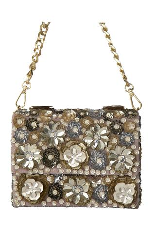 Floral Embellished Sling Bag