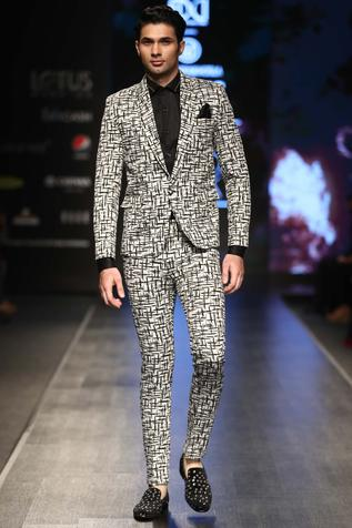 Printed Suit & Trouser Set