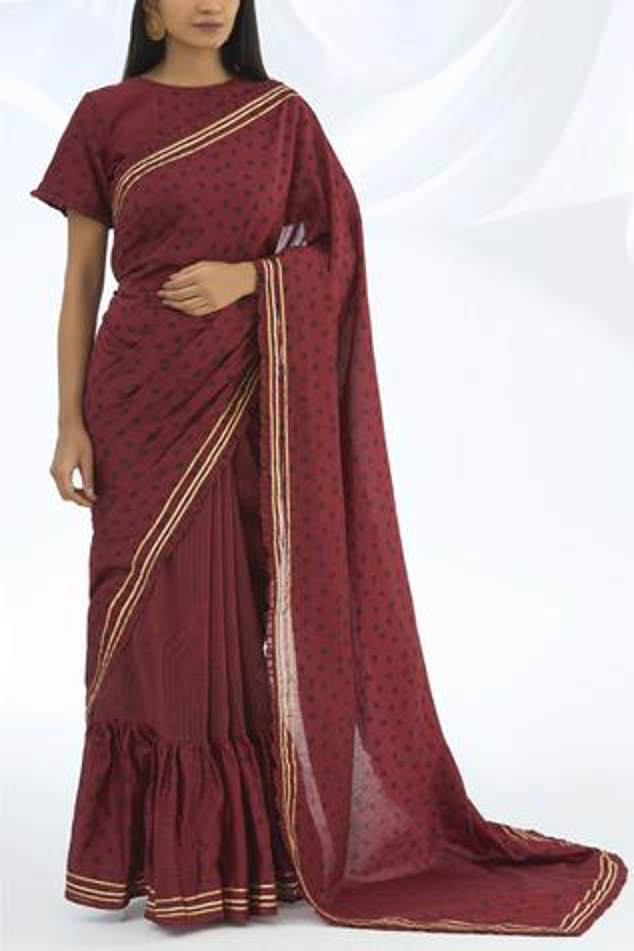 Chanderi Silk Printed Saree