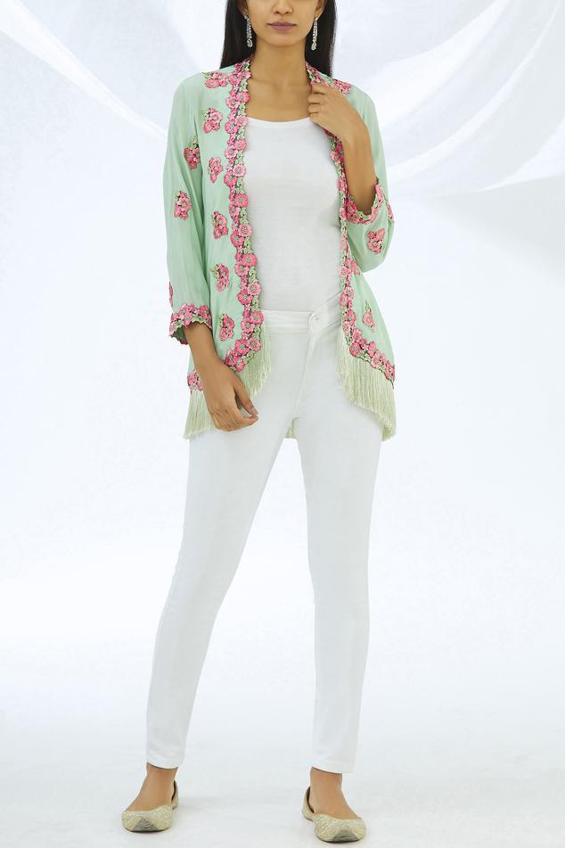 Embroidered Floral Jacket
