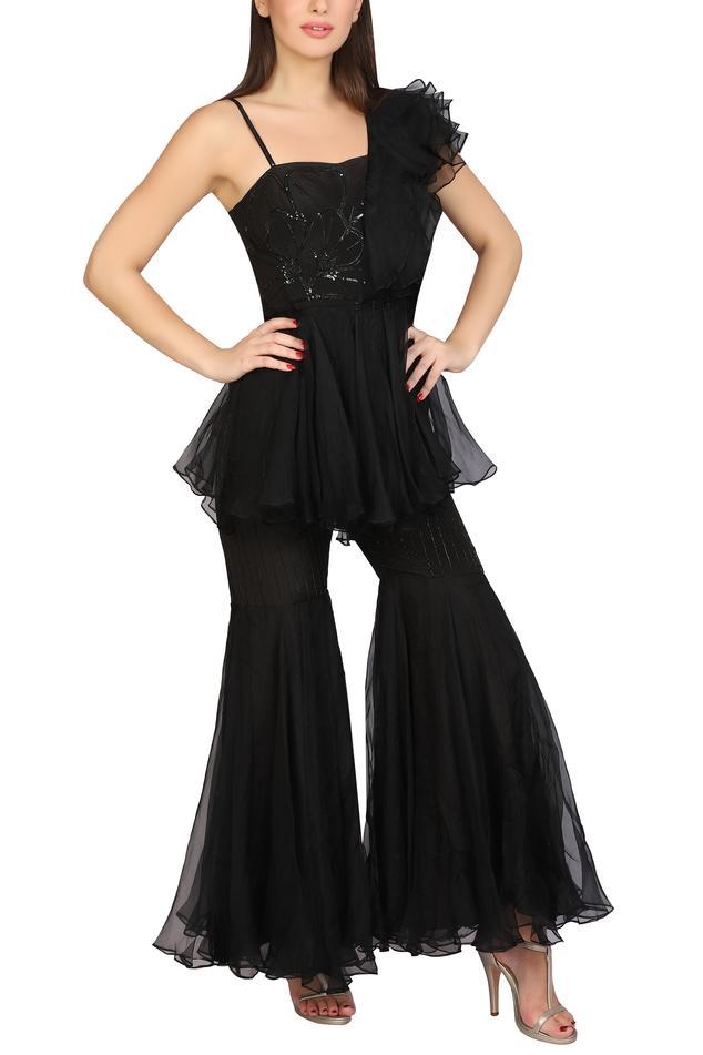 Embellished Sharara Jumpsuit