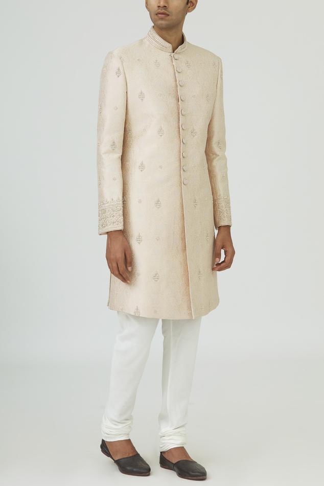 Brocade Silk Sherwani Set