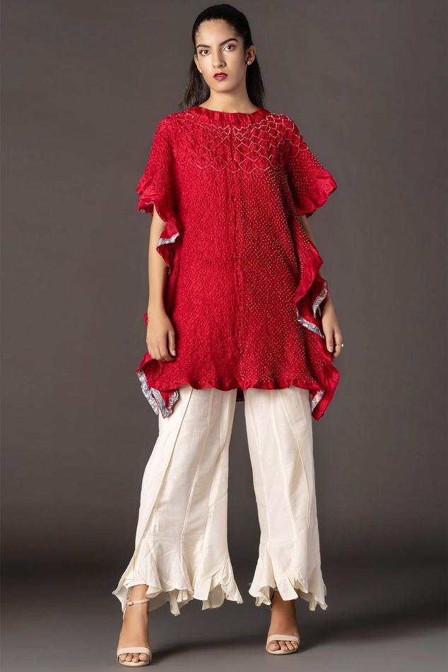 Silk Bandhani Kaftan