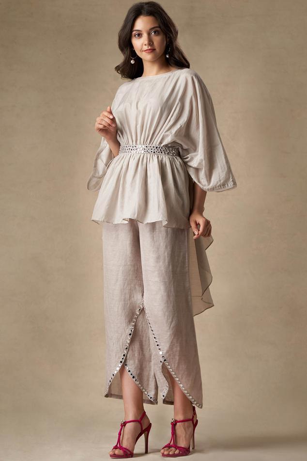 Linen Embellished Pants