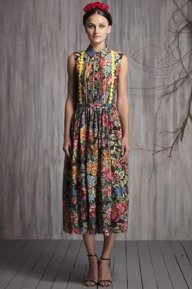Chanderi Printed Dress