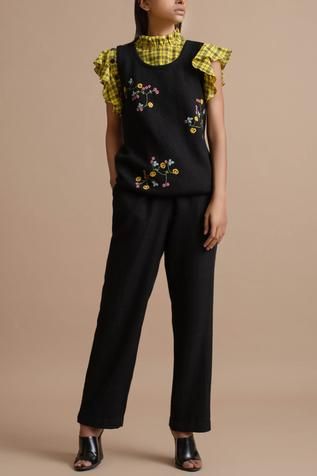 Embroidered Knitted Top