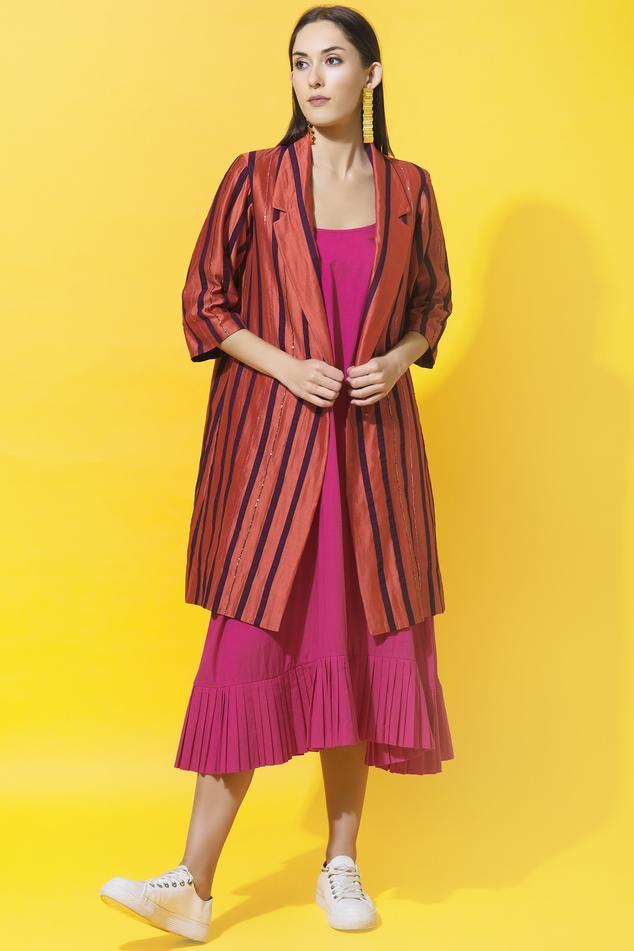 Chanderi Striped Jacket