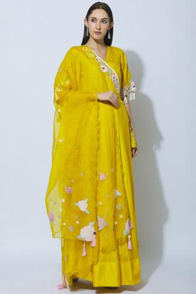 Cotton Silk Anarkali with Dupatta