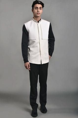 Cotton Silk Nehru Jacket