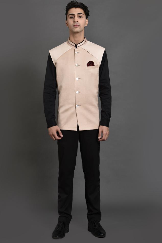 Linen Satin Nehru Jacket