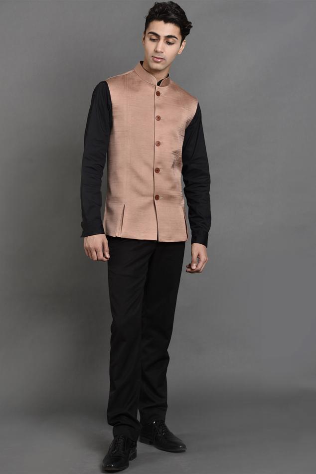 Cotton Satin Nehru Jacket