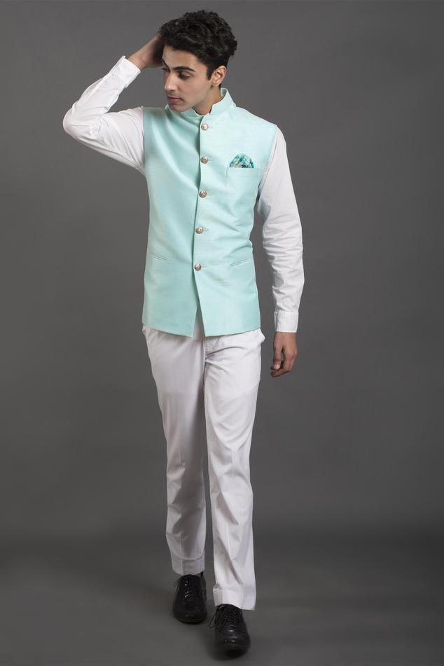 Button Front Nehru Jacket
