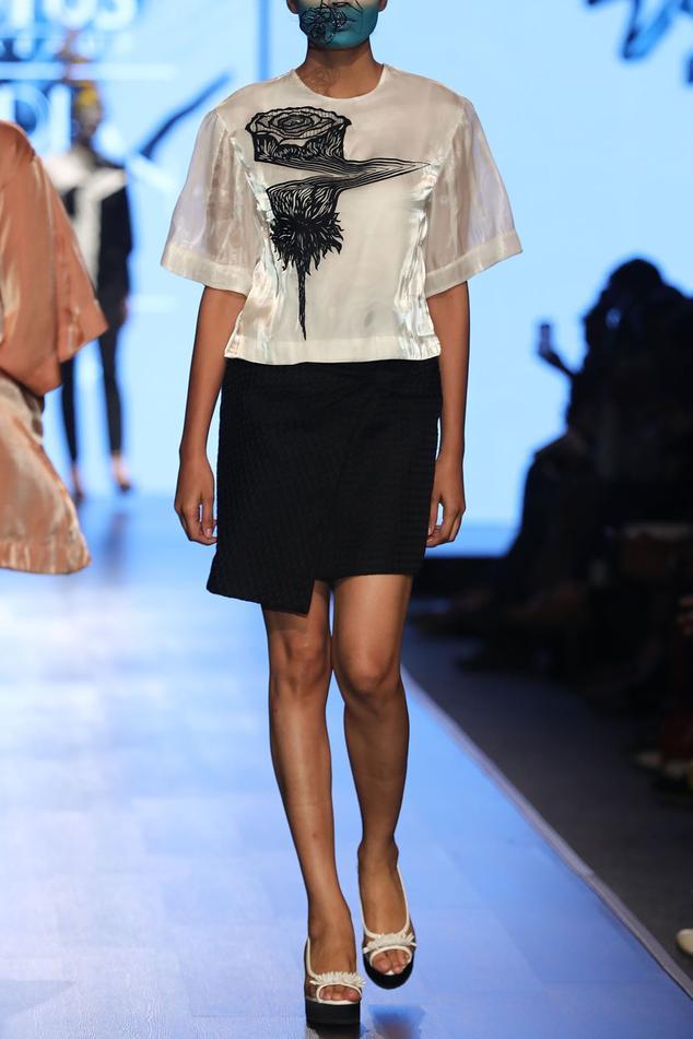 Jacquard Skirt Set