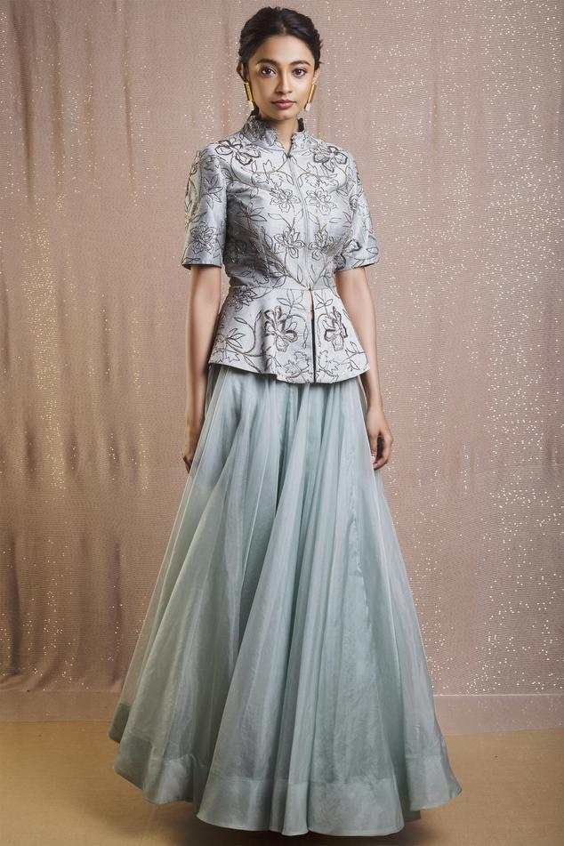 Embroidered Skirt Set