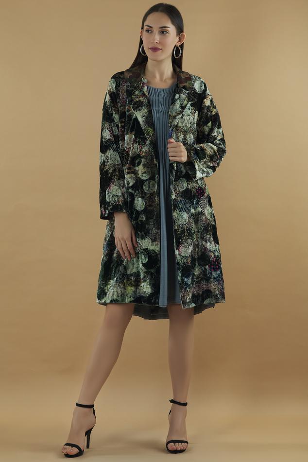 Silk Velvet Overlap Jacket