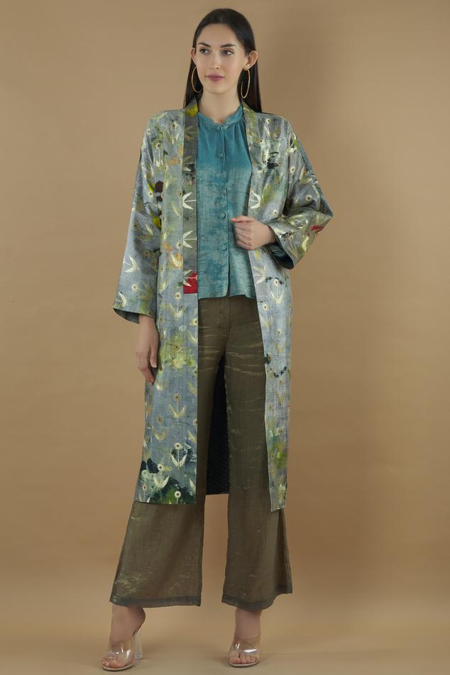 Silk Printed Jacket