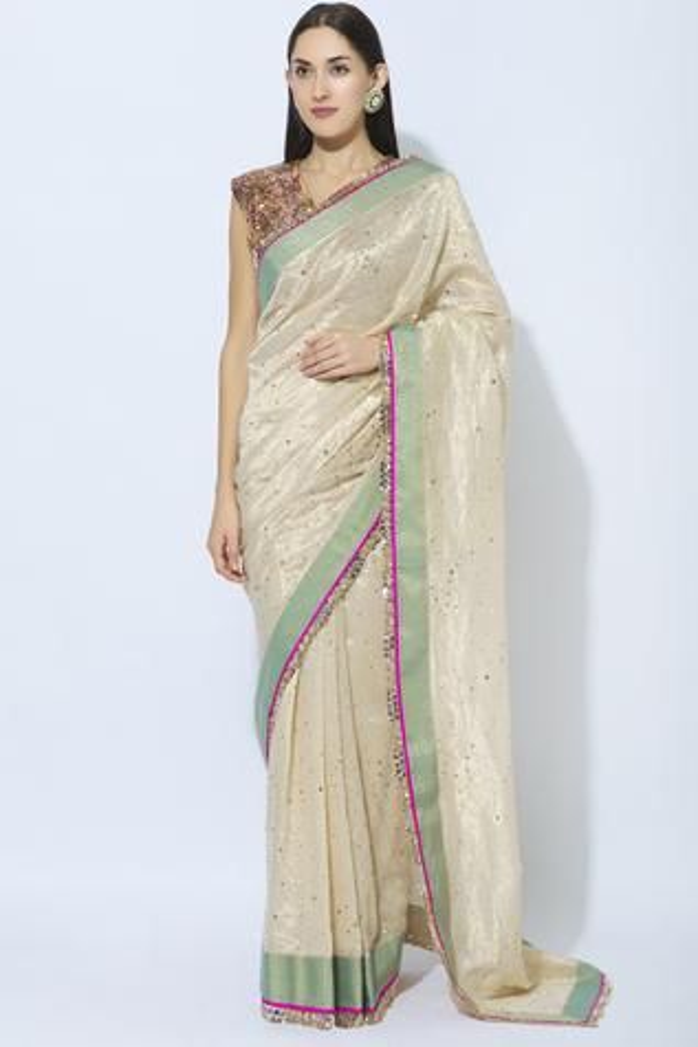 Chanderi Embroidered Saree