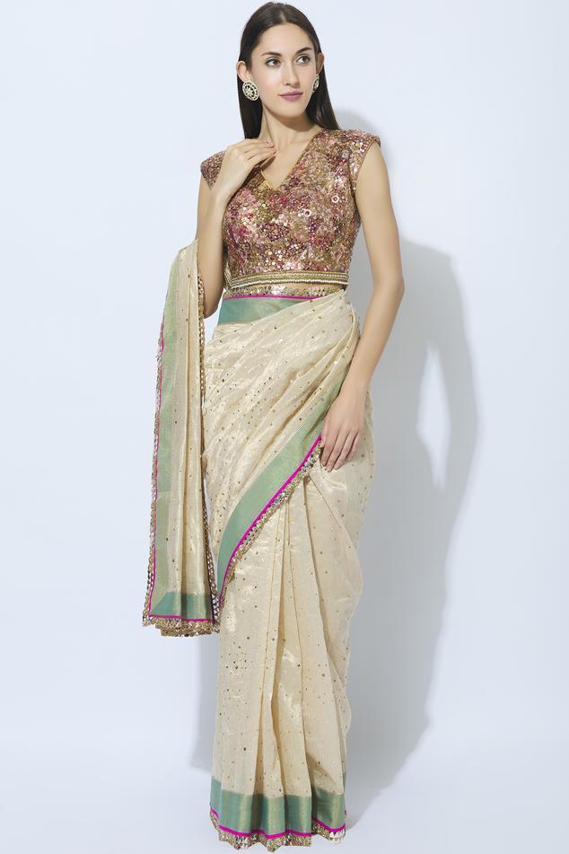 Silk Brocade Saree Blouse
