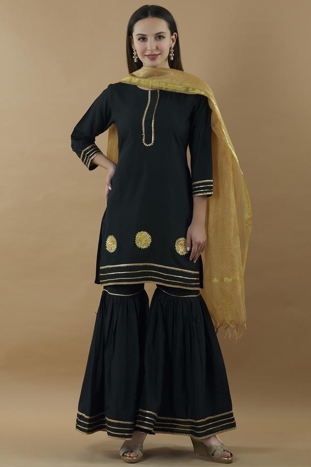 Silk Kurta Sharara Set