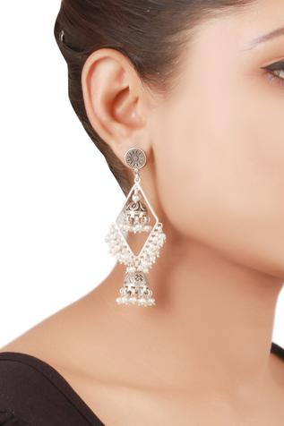 Carved Dangler Earrings