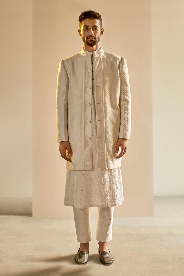 Chanderi Bandhgala & Pant Set