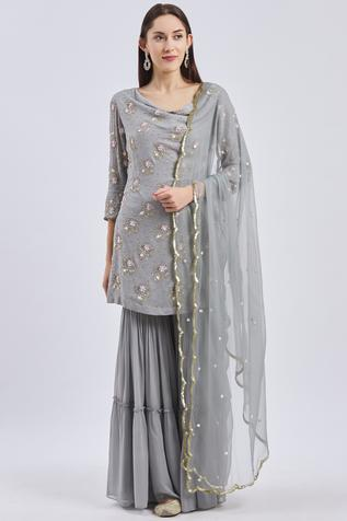 Embellished Kurta Sharara Set