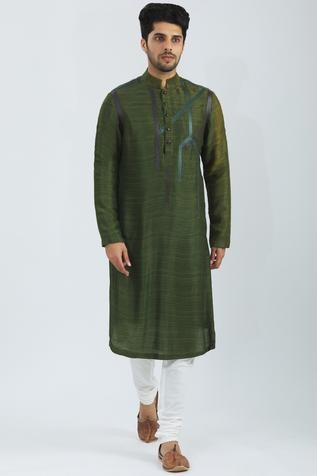 Tussar Silk Kurta Set