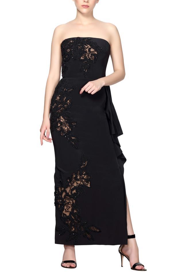 Bandeau Embroidered Dress