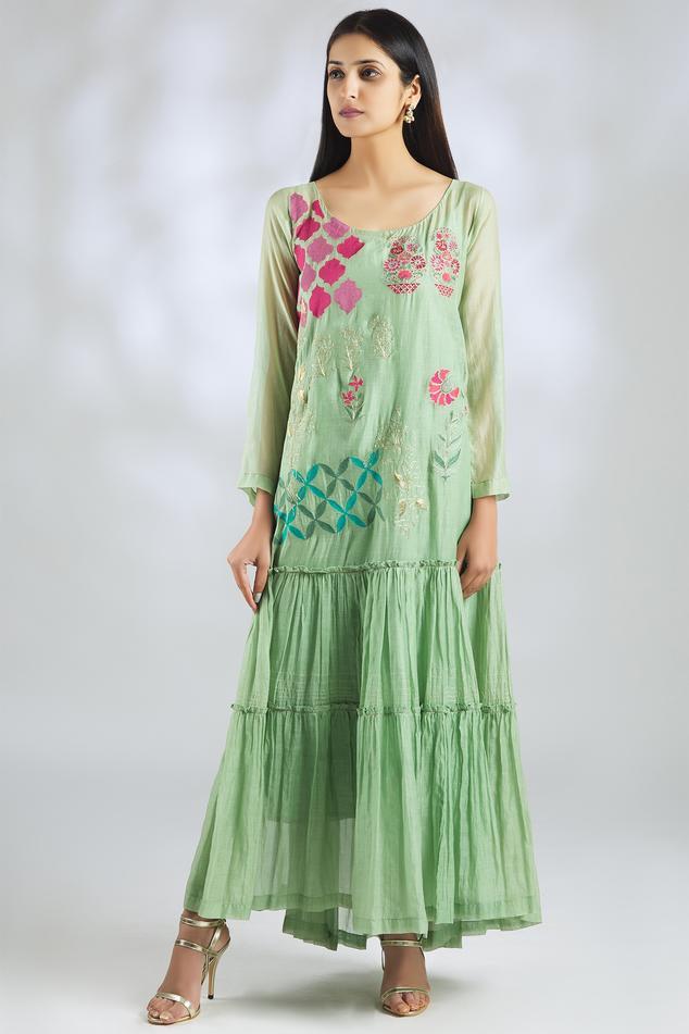 Handloom Chanderi Maxi Dress
