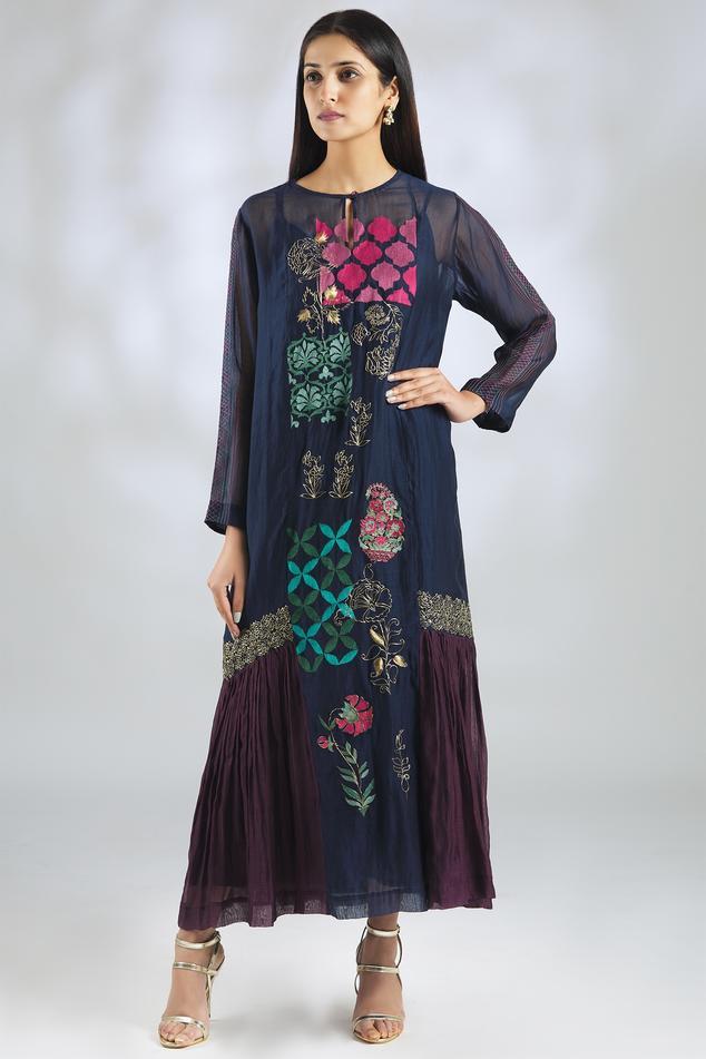 Handloom Chanderi Midi Dress