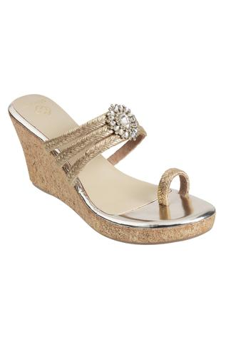 Kundan Strappy Wedges