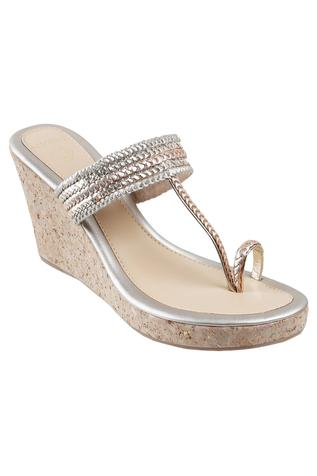 Kolhapuri Braided Wedges