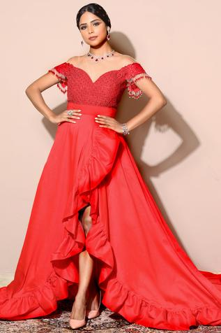 Ruffle Gown