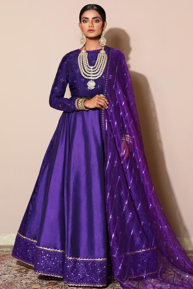 Embellished Anarkali Set