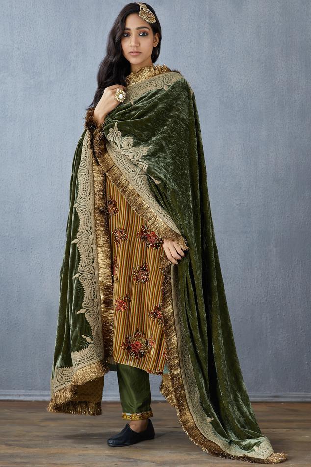 Silk Velvet Dupatta