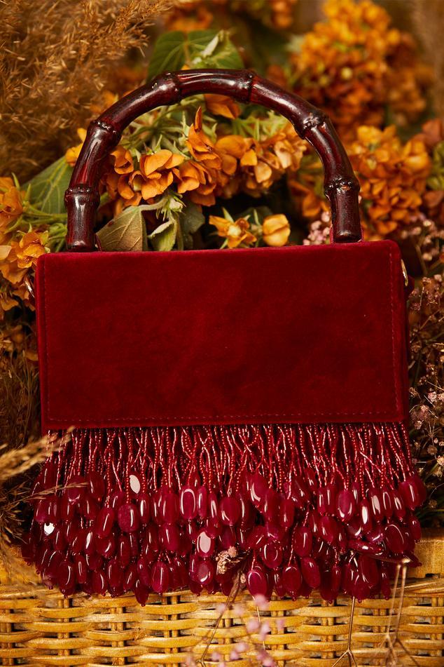 Velvet Embellished Bag