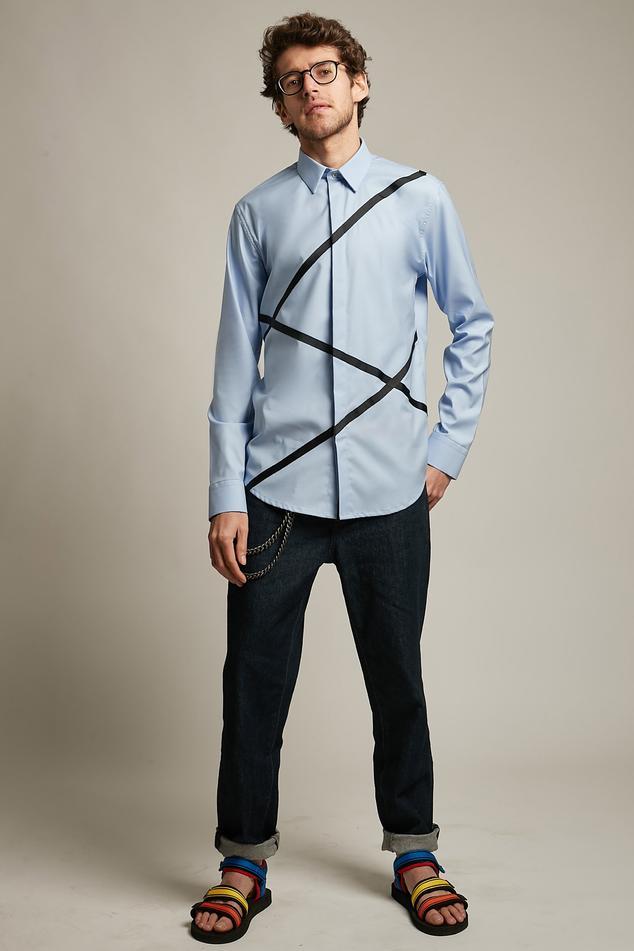Criss Cross Print Shirt