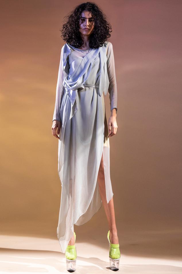 Draped Asymmetric Tunic