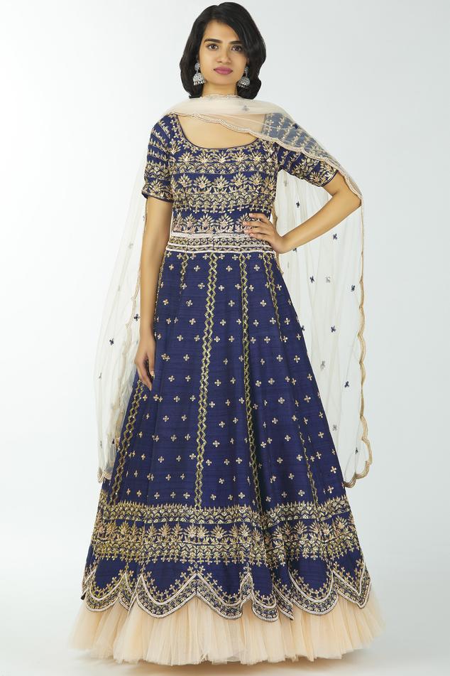 Silk Anarkali with Dupatta