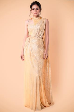 Pre Draped Saree Gown