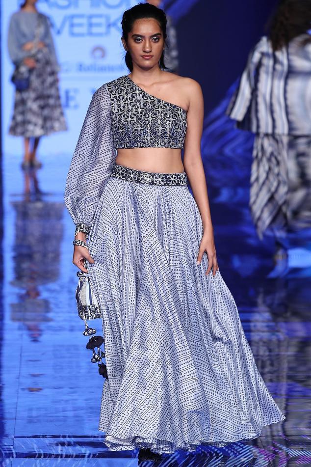 Silk Chanderi Skirt Set