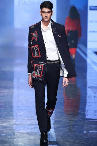 Embroidered Double Breasted Blazer