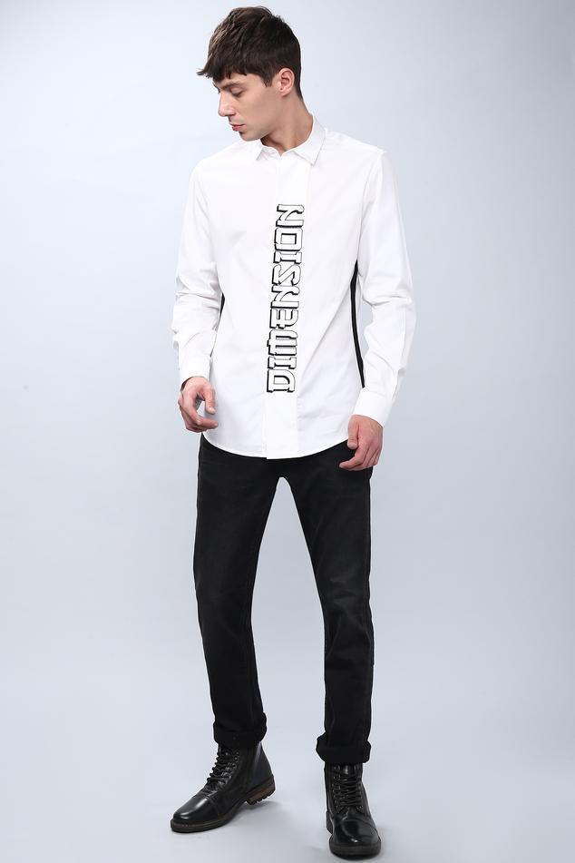 Slim Fit Typography Shirt