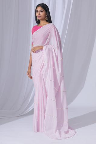 Embellished Saree with Running Blouse Fabric