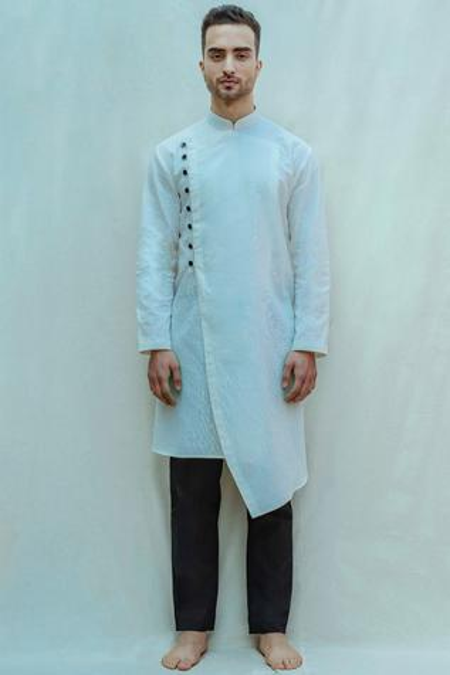Cotton Linen Kurta Set
