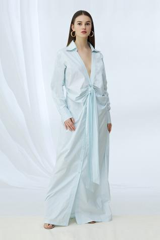 Cotton Shirt Maxi Dress