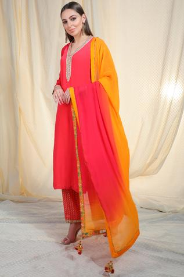 Embellished Kurta Pant Set