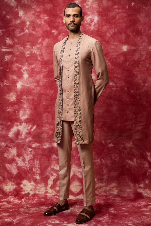 Cotton Kurta Set with Jacket