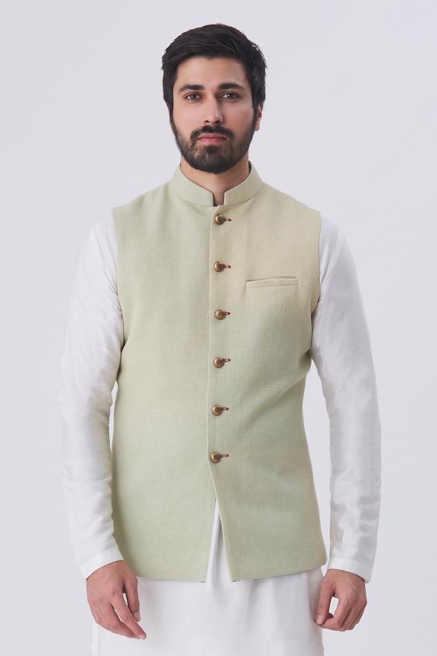 Woven Nehru Jacket