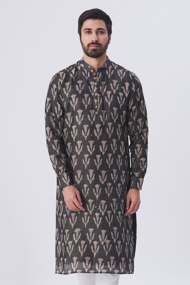 Silk Tie Dye Kurta